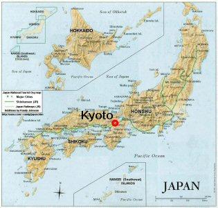 Kyoto carte du japon » Vacances   Arts  Guides Voyages